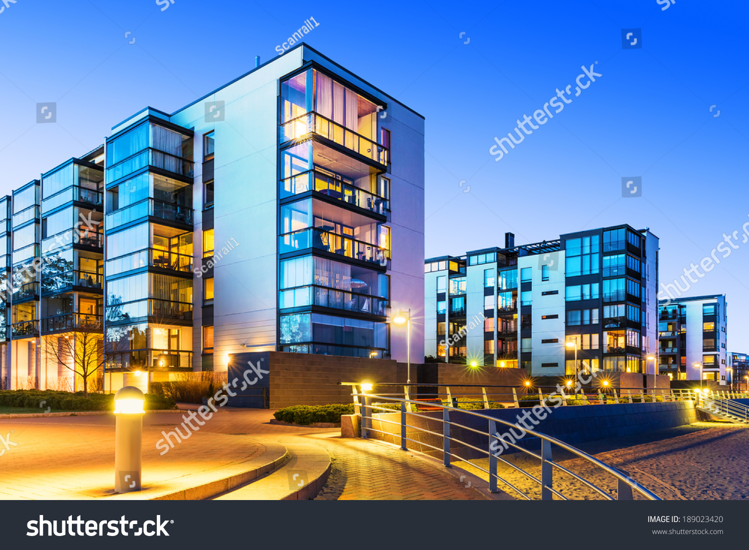 House building city construction concept evening stock for Concept home builders