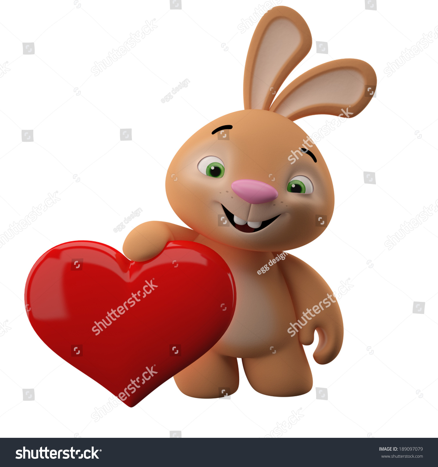Amazing 3d Easter Bunny Merry Cartoon Rabbit Animal Character