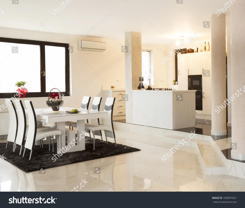 Modern Living Room Huge Windows Stock Photo (Download Now) 189097631 ...
