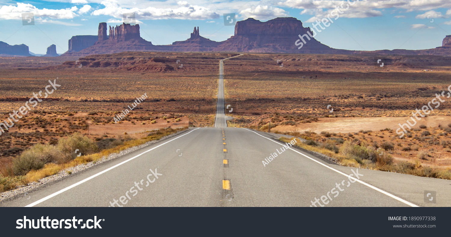 Scenic views of Monument Valley. #1890977338