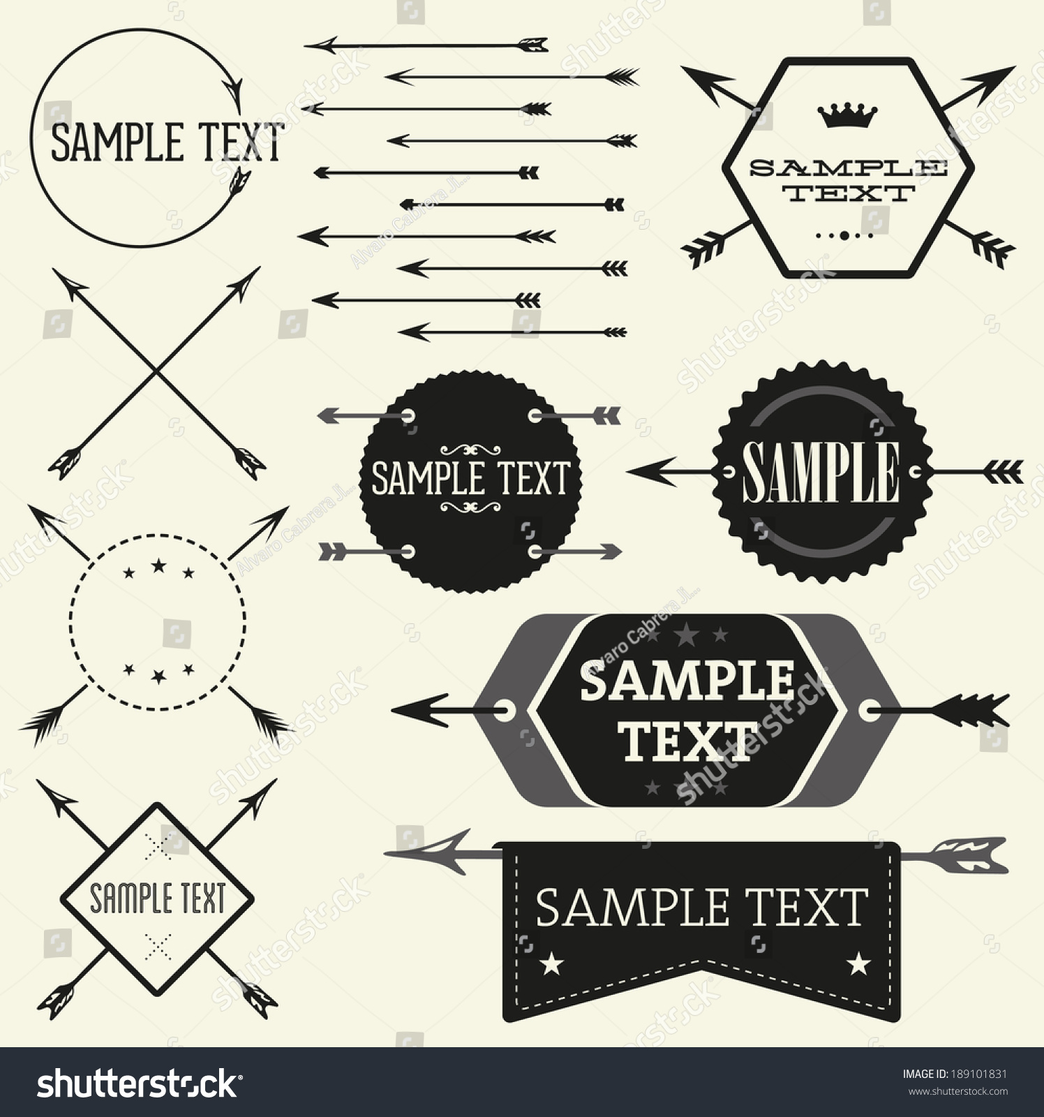 z label templates - vector vintage badge label templates great stock vector