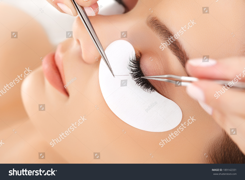 Woman Eye with Long Eyelashes. Eyelash Extension #189142331