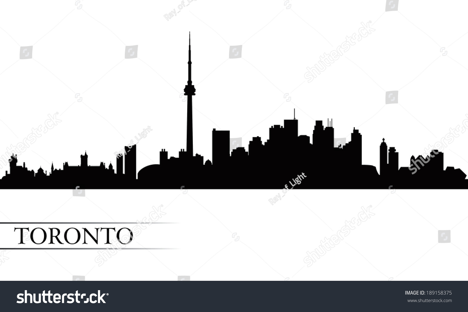 Royalty free toronto city skyline silhouette 189158375 stock photo toronto city skyline silhouette background vector illustration 189158375 thecheapjerseys Image collections