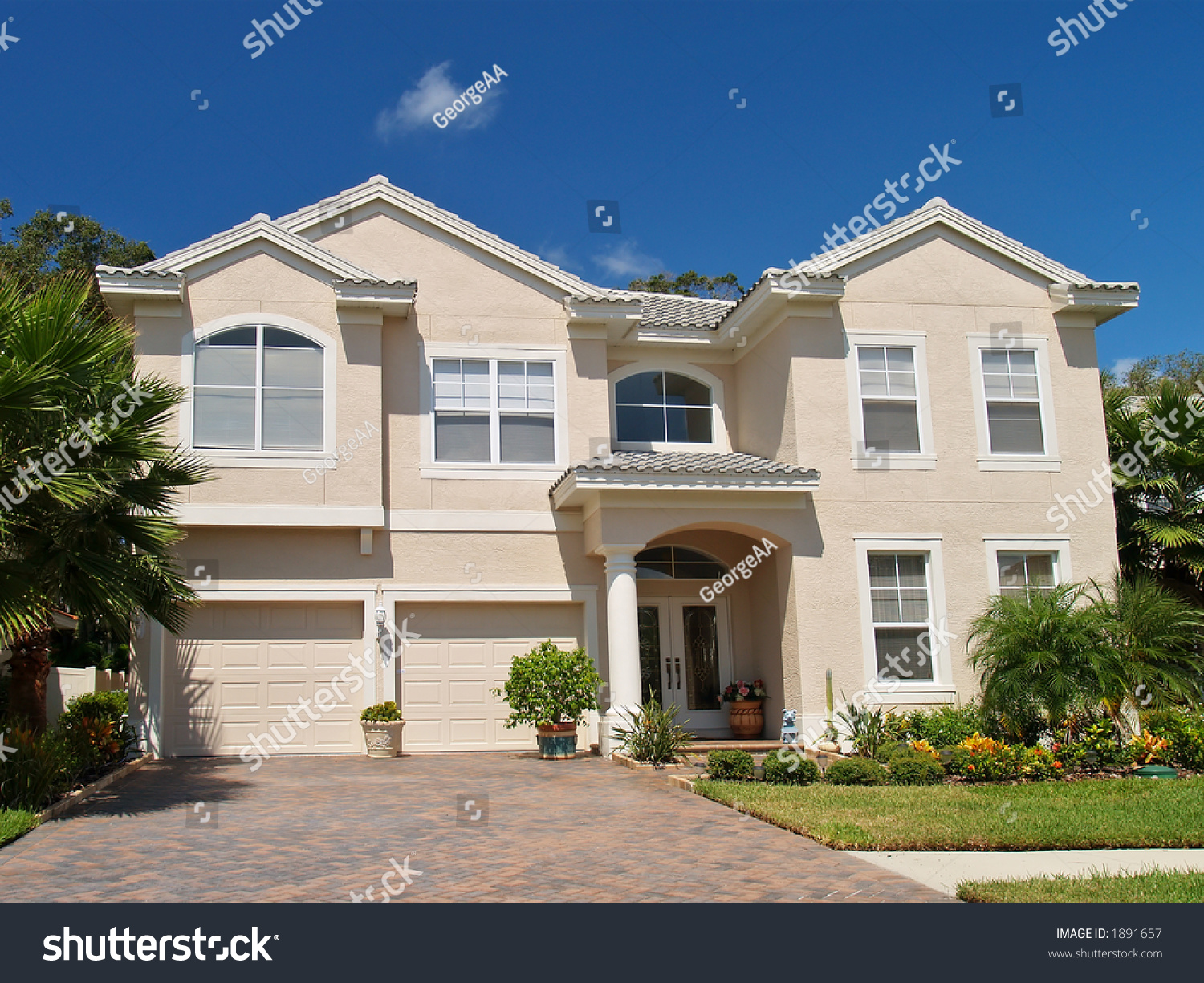 Very simple functional luxury house stock photo 1891657 for Simple luxury homes