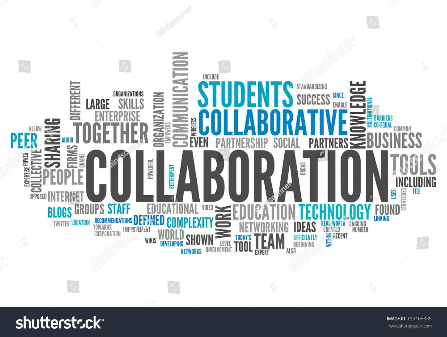 Word Cloud with Collaboration related tags | EZ Canvas