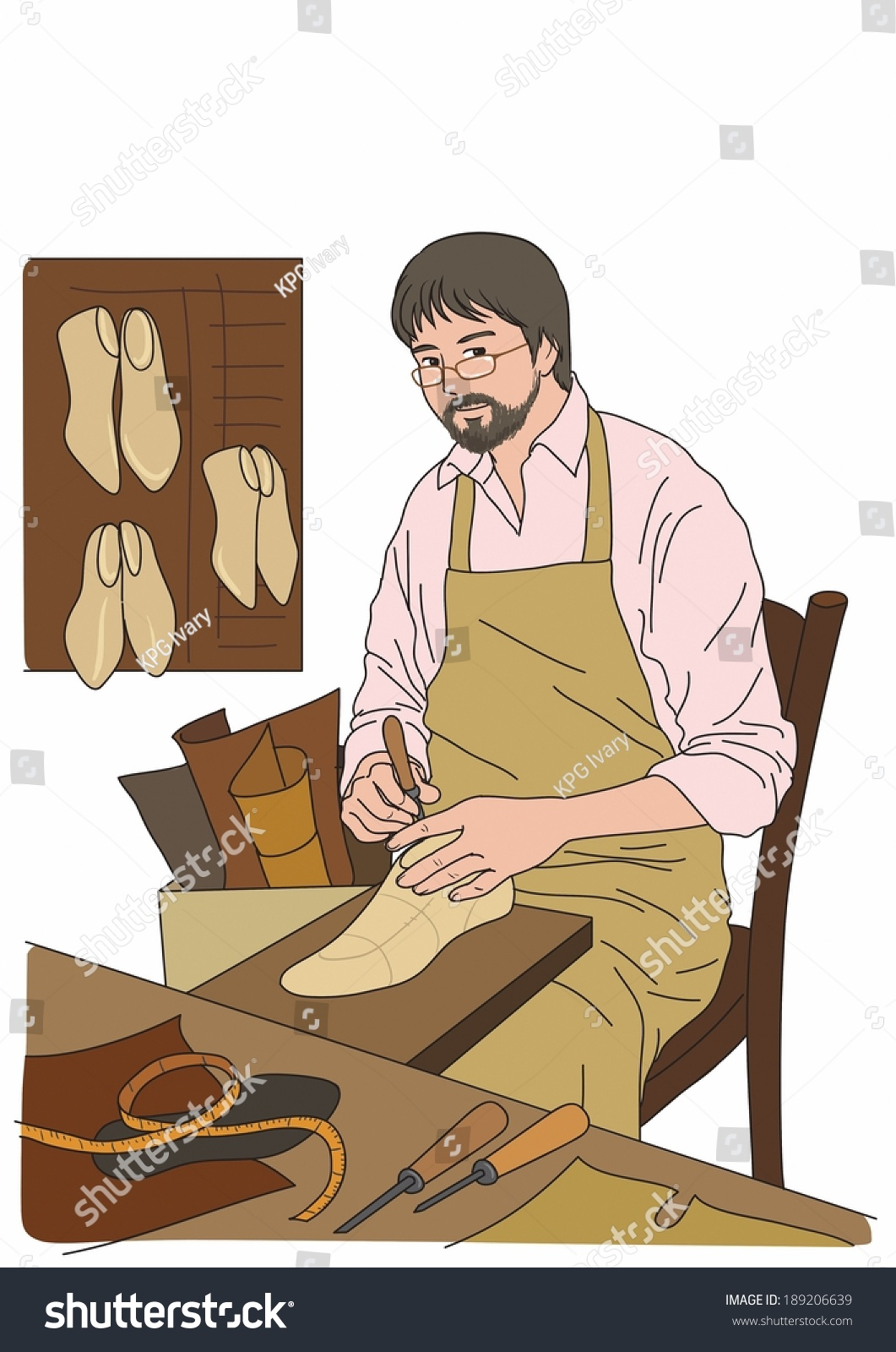 Illustration Cobbler Stock Illustration 189206639 - Shutterstock