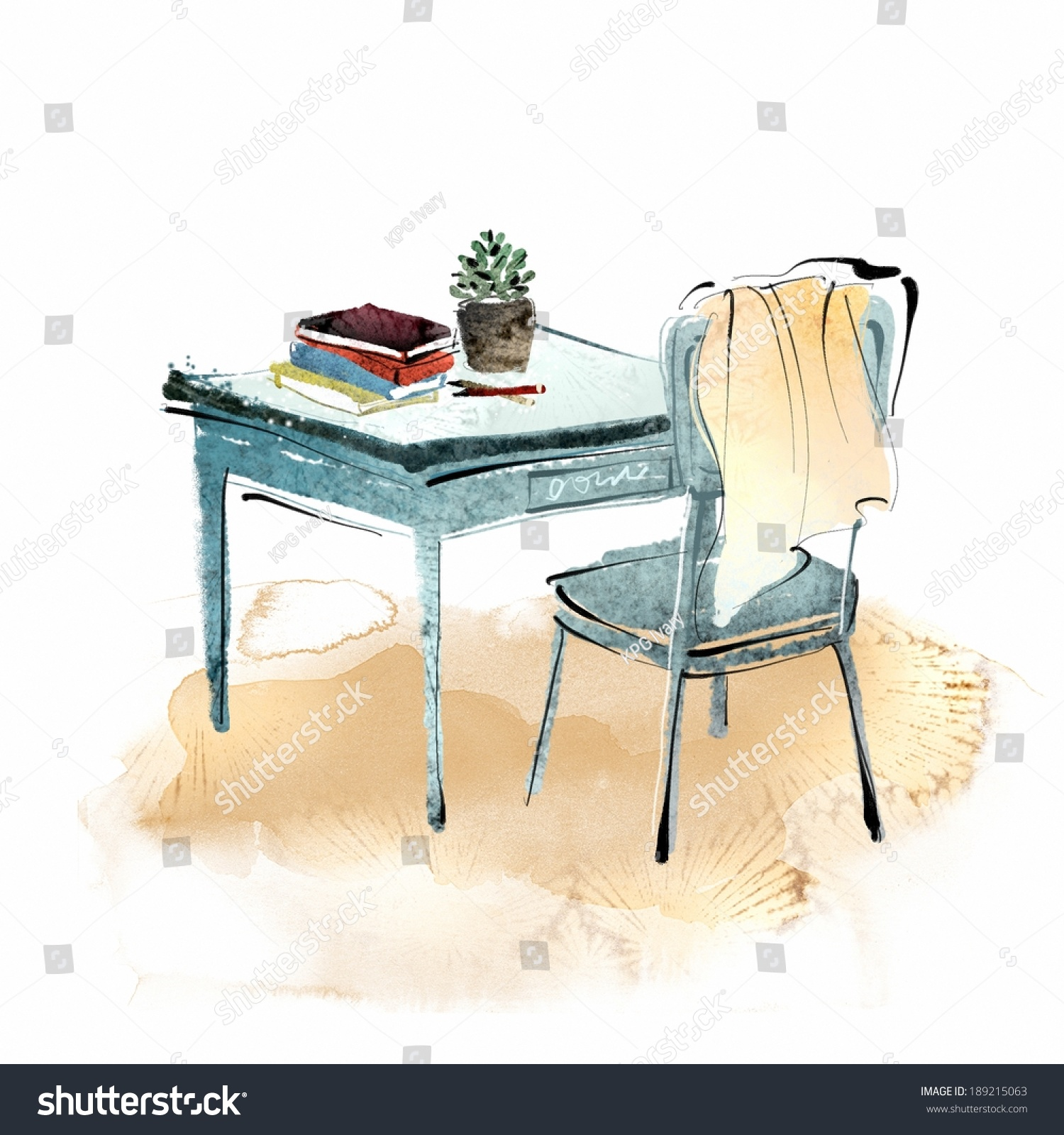 vector and illustration of two chairs and table ez canvas