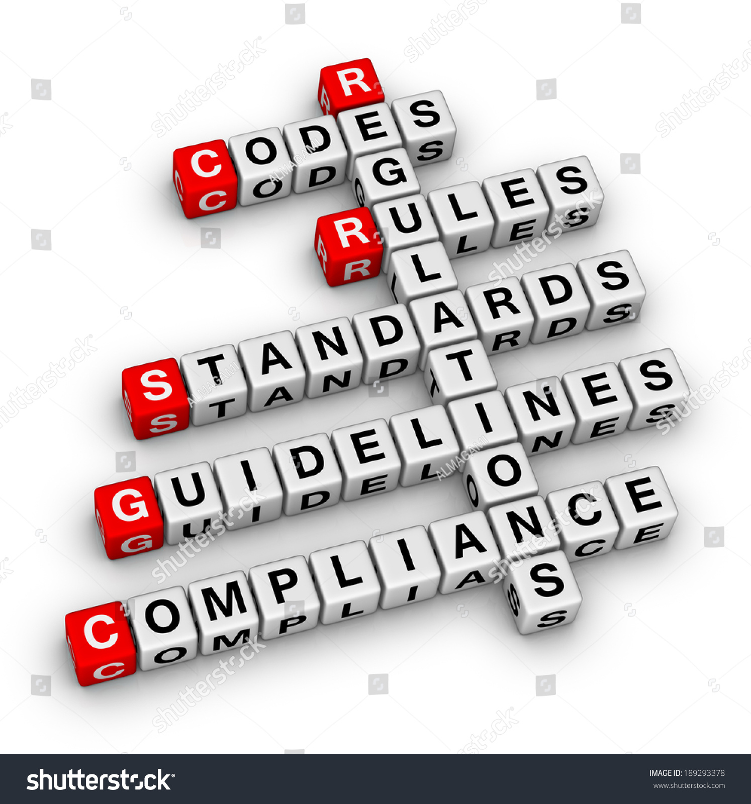 compliance crossword puzzle stock photo 189293378