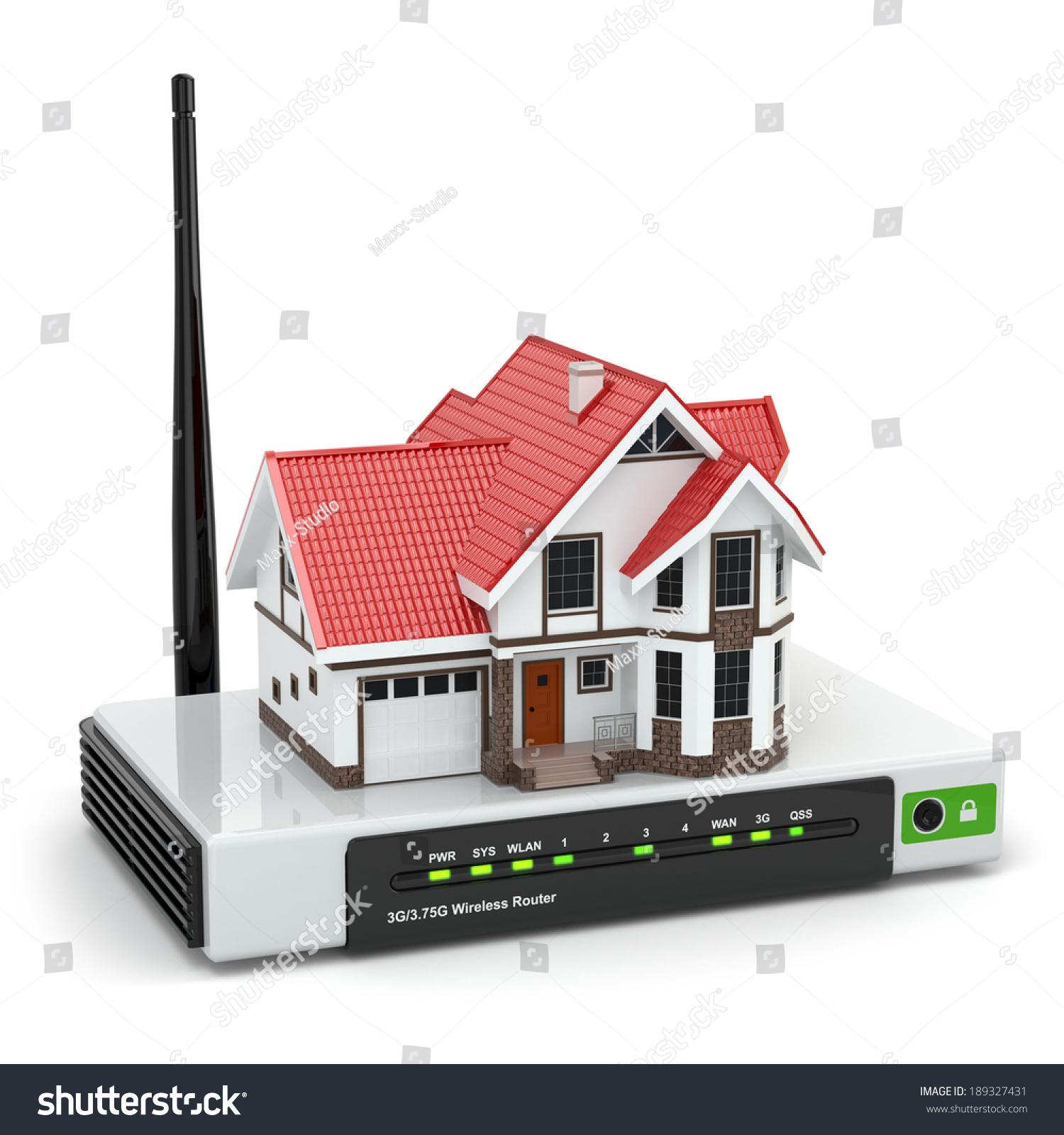 Building Diagram For Wireless Routers Royalty Free Stock Illustration Of Home Network Concept House On Wi Fi Router Isolated White 3d