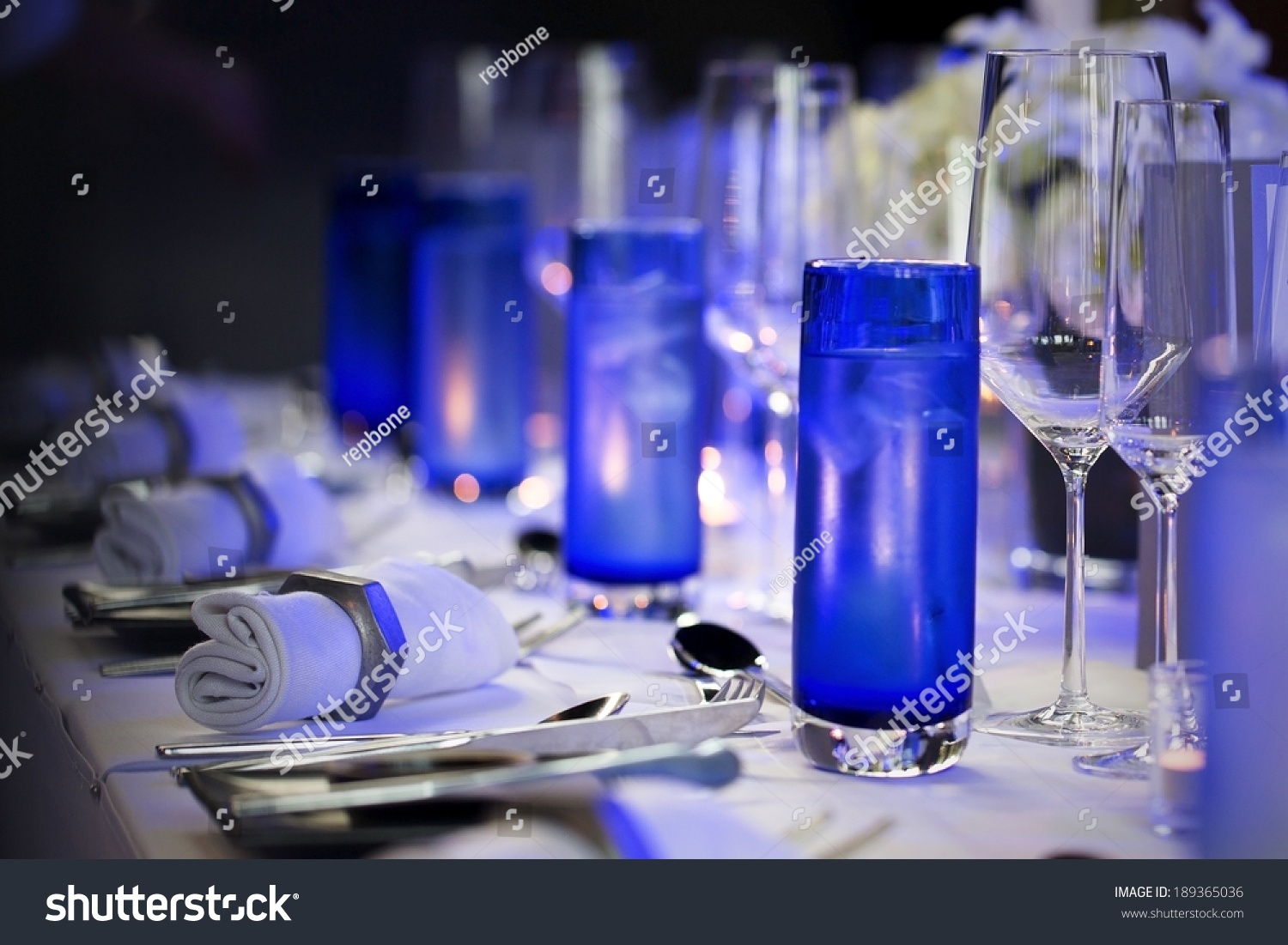 Table Setting Wedding Reception Event Stock Photo Edit Now
