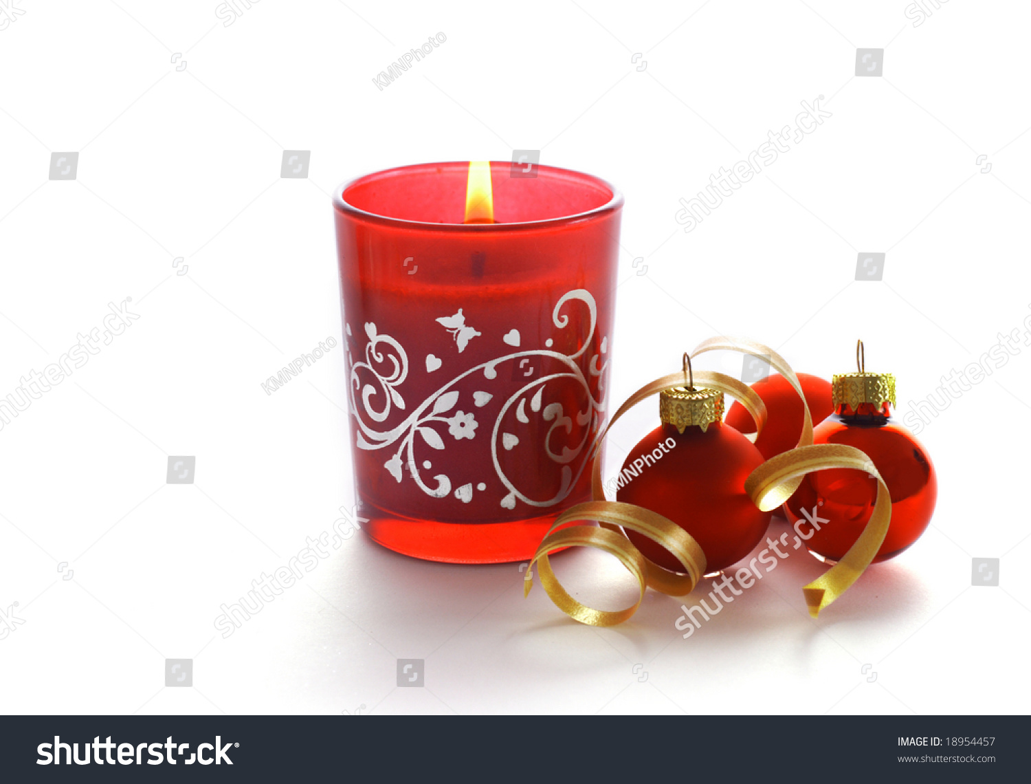 red candle white background - photo #31