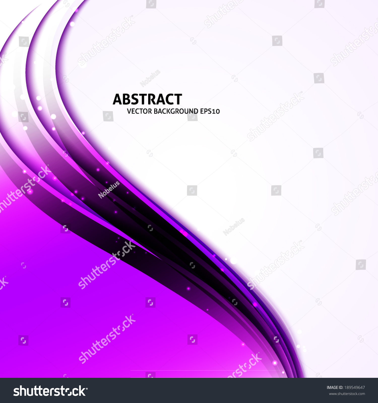 Colorful Purple Abstract Vector Curves Background Stock