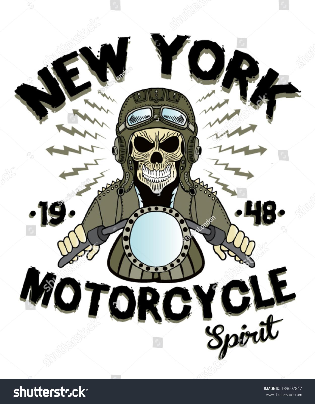 T-shirt design handmade - Handmade Illustration Skull And Motorcycle For Apparel Men S T Shirt Illustration Motorcycle Skull