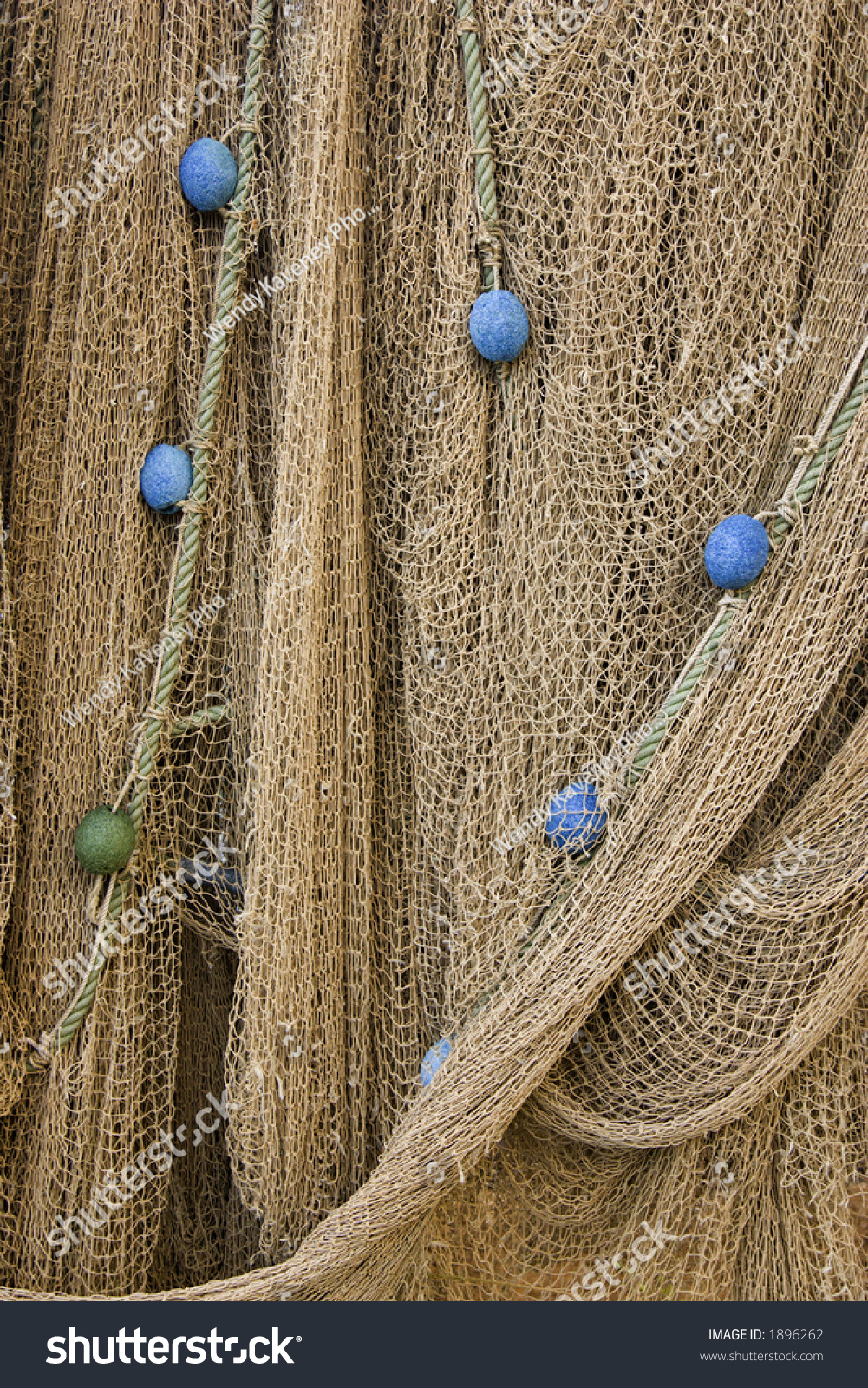 Fishing net with floats stock photo 1896262 shutterstock for Fishing net floats