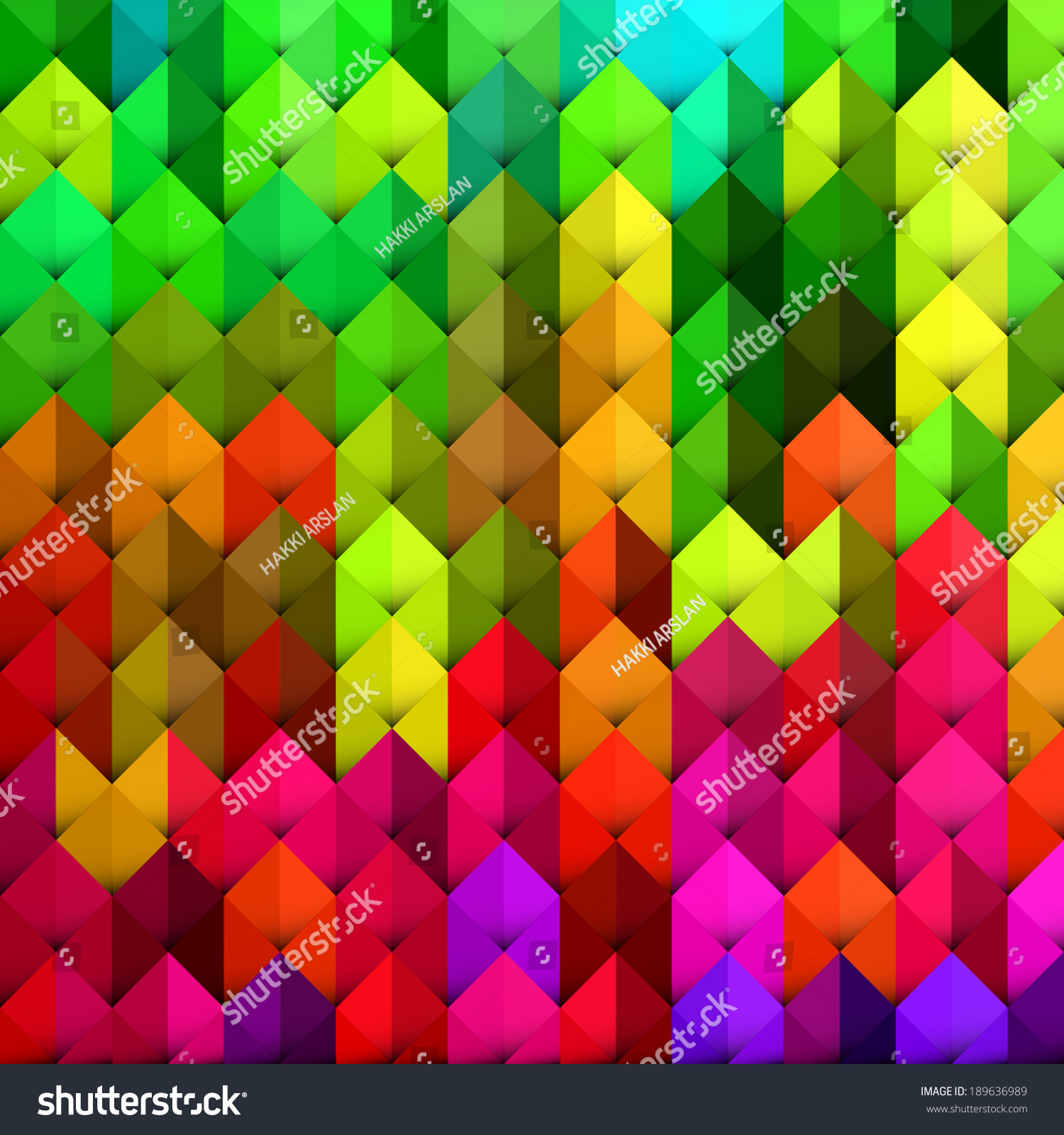 Abstract Geometric Background With Vibrant Color Tones