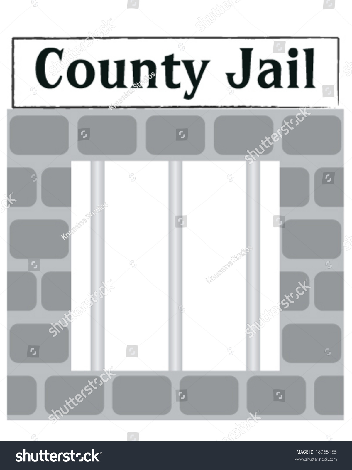 Vector County Jail Cell Window Bars Stock Vector 18965155 ...