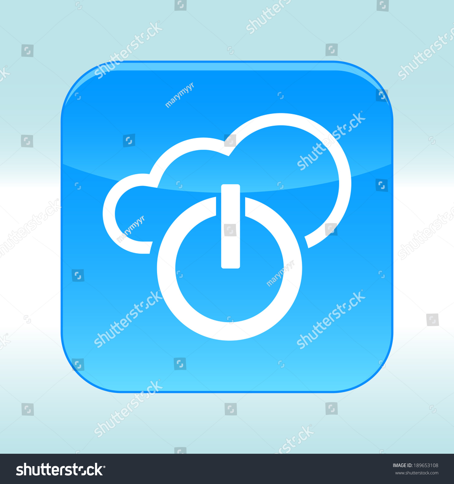 Blue Web Icon Stock Illustration 189653108 - Shutterstock