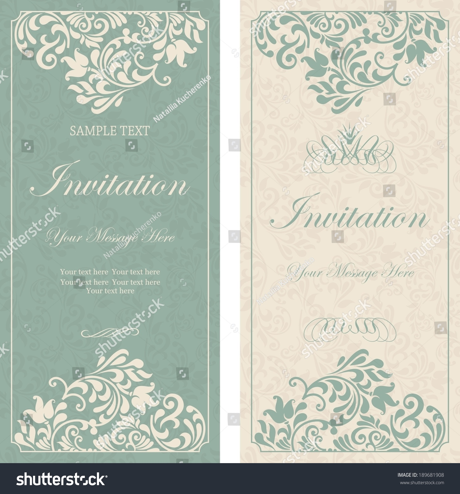 Set antique greeting cards invitation victorian stock vector set of antique greeting cards invitation with victorian ornaments beautiful luxury postcards kristyandbryce Images