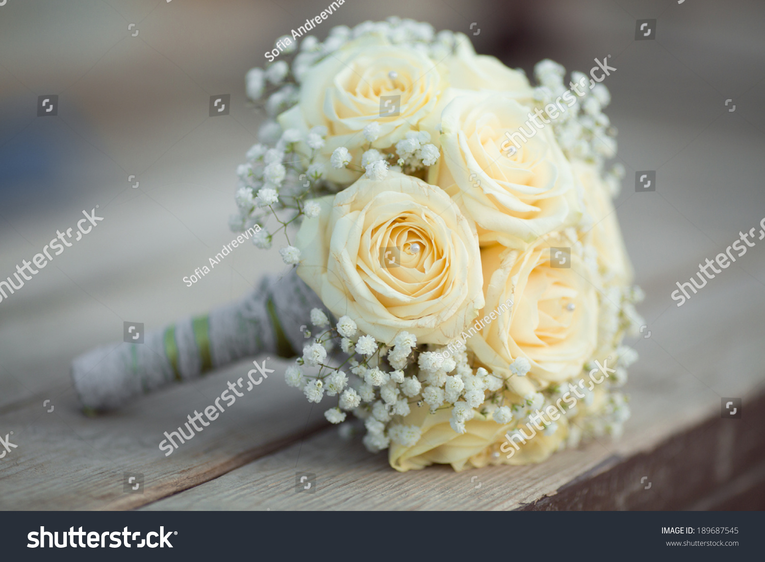 Wedding Flowers White Roses Bouquet Marriage Flowers Bouquet
