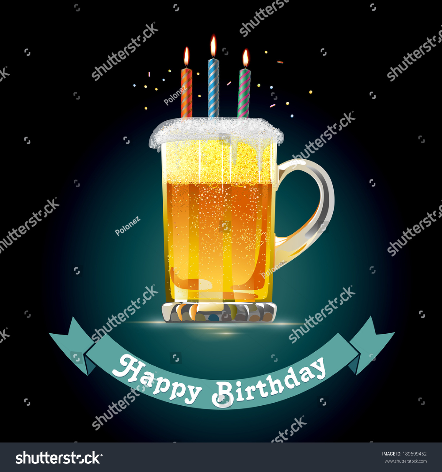 Happy birthday card person who loves stock vector royalty free happy birthday card for person who loves beer eps 10 vector illustration m4hsunfo