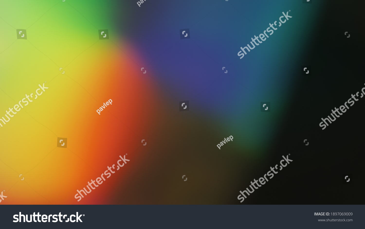 Colored Holographic Gradient Blur Abstract Background, Light Leaks - Photo Overlay for Create Vintage Film Mood, Trendy Style and Nostalgic Atmosphere for Your Photos. Use a Screen Blending Mode. #1897069009