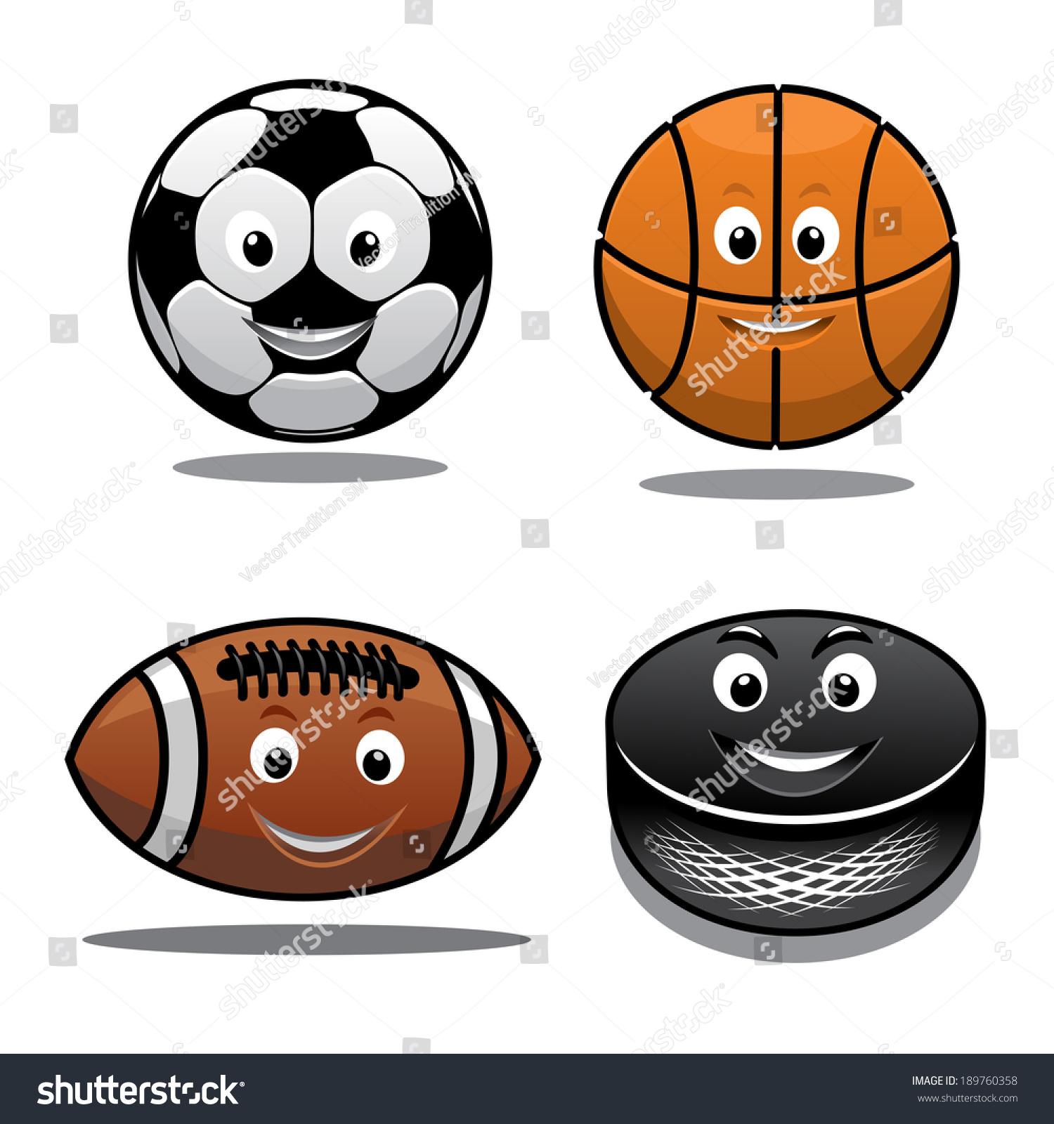 set sports equipment icons logo happy stock vector 189760358