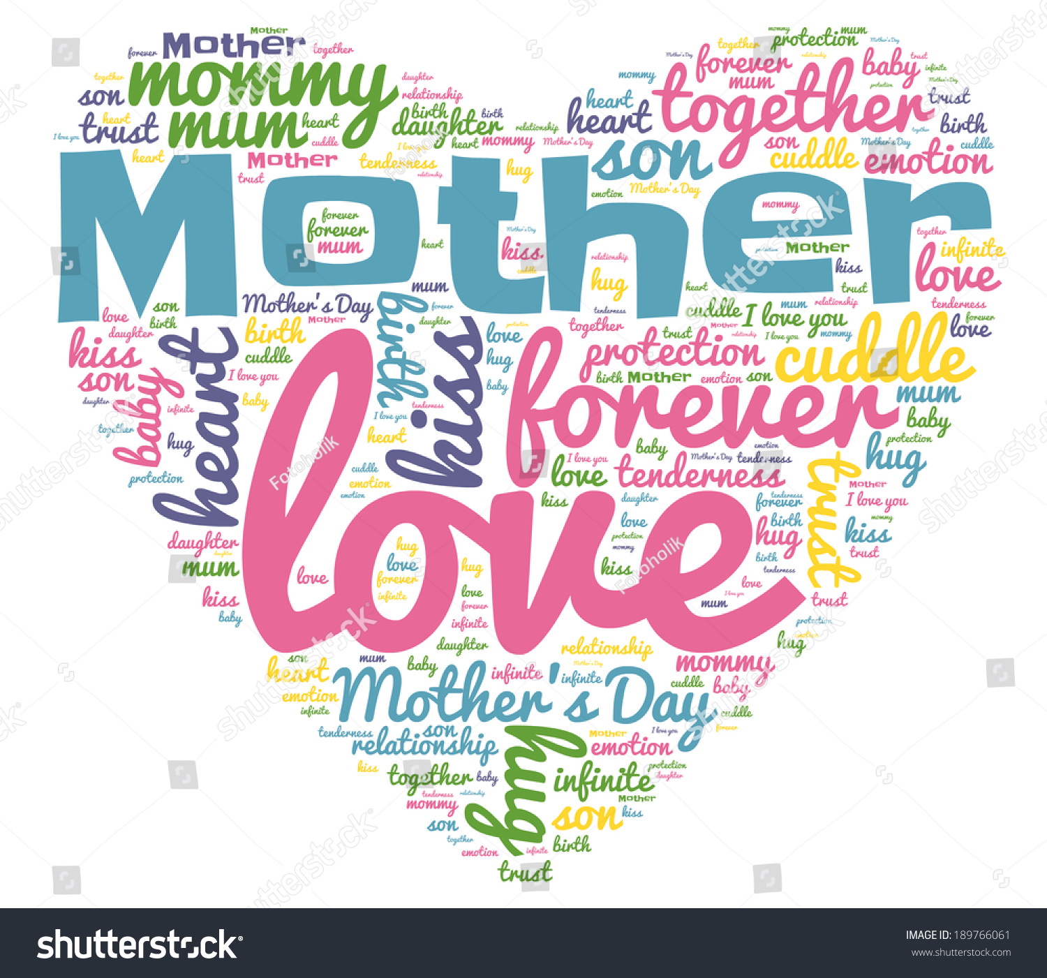 Mother Word Cloud Concept Isolated Stock Illustration ...