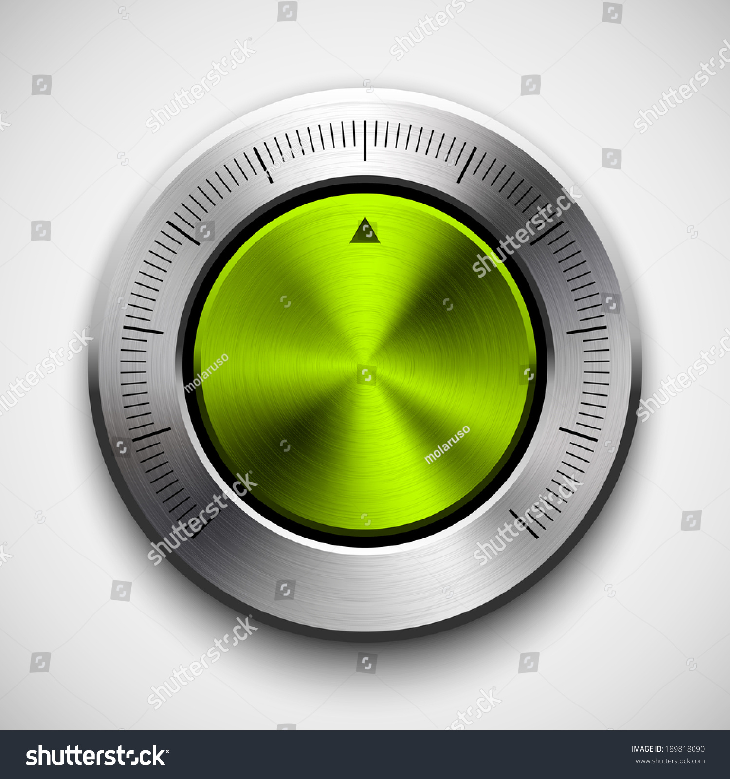 Volume Control Button : Green lime abstract technology music button volume