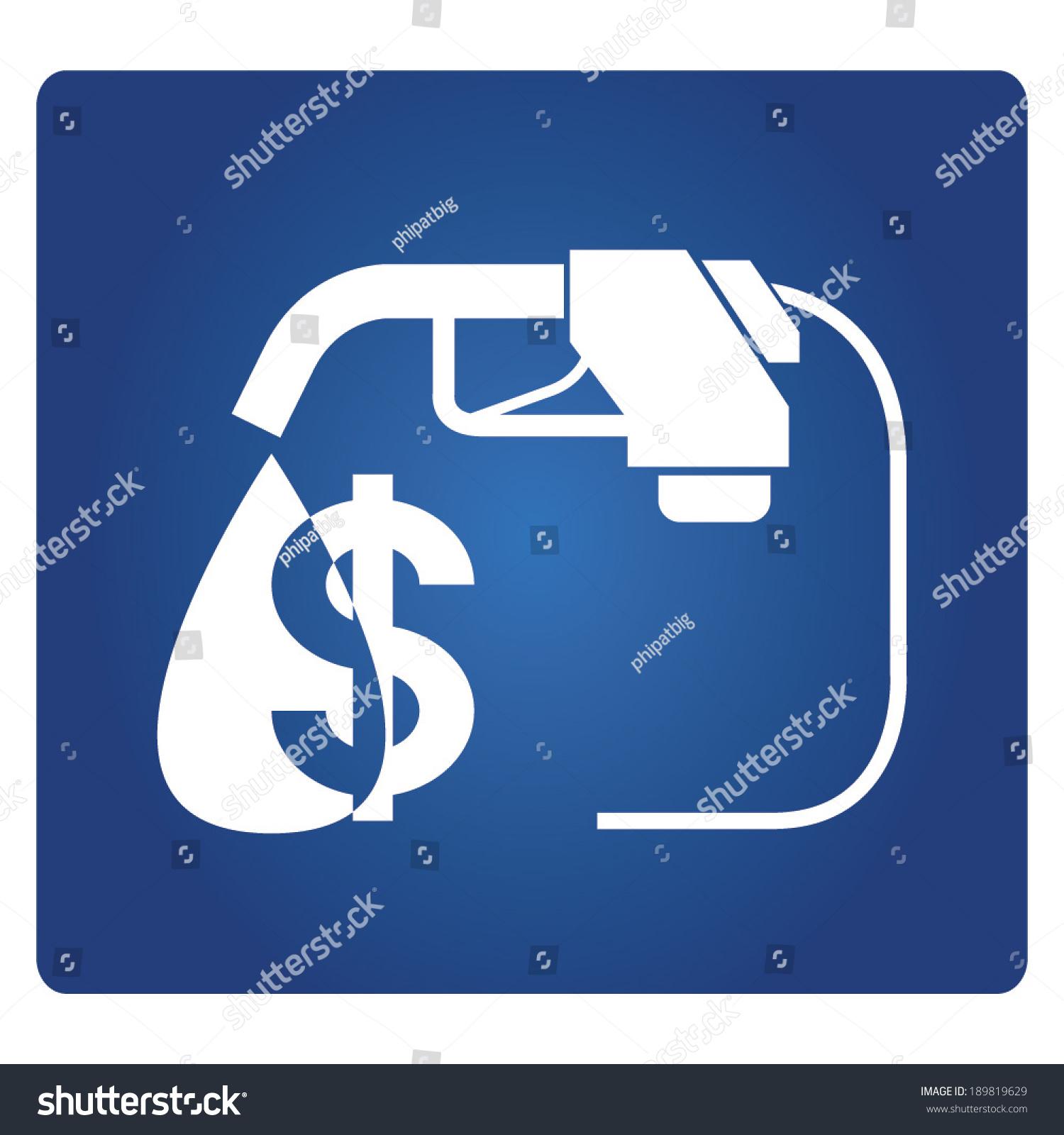 Oil Price Symbol Stock Vector 189819629 Shutterstock