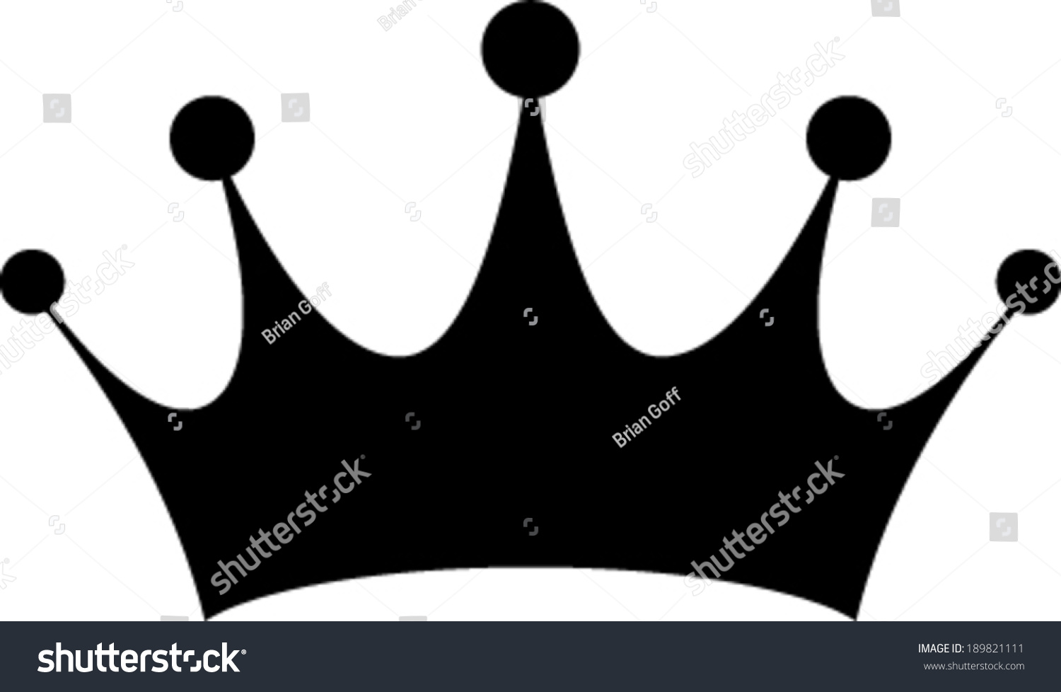 crown vector illustration stock vector 189821111 crown vector image crown vector image
