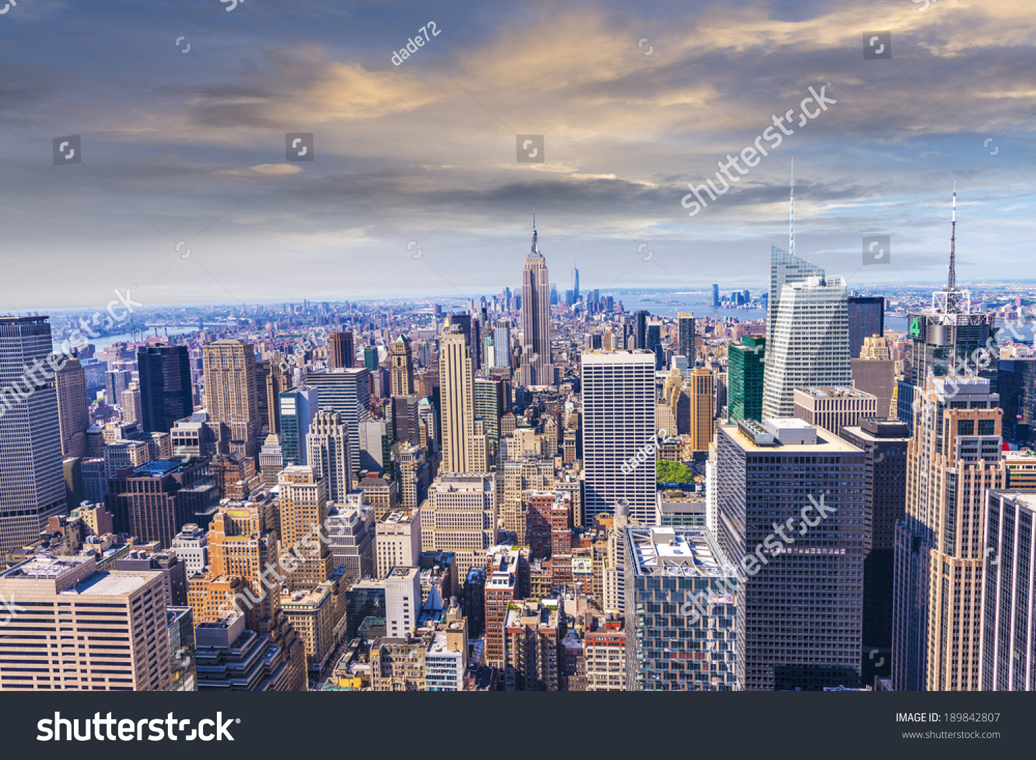 Beautiful view new york city skyline stock photo 189842807 for New york city beautiful