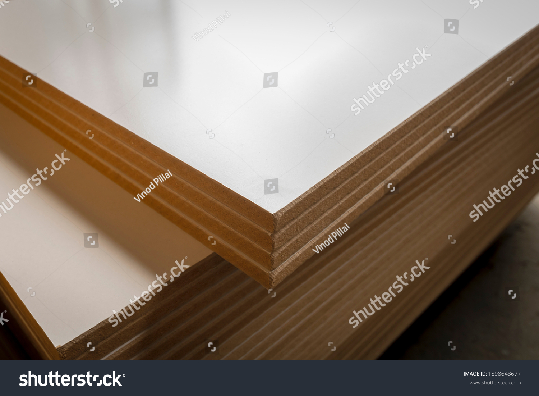 Medium-Density Fiberboard Melamine in the furniture factory. #1898648677
