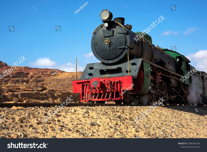 Steam locomotive Wadi Rum Jordan