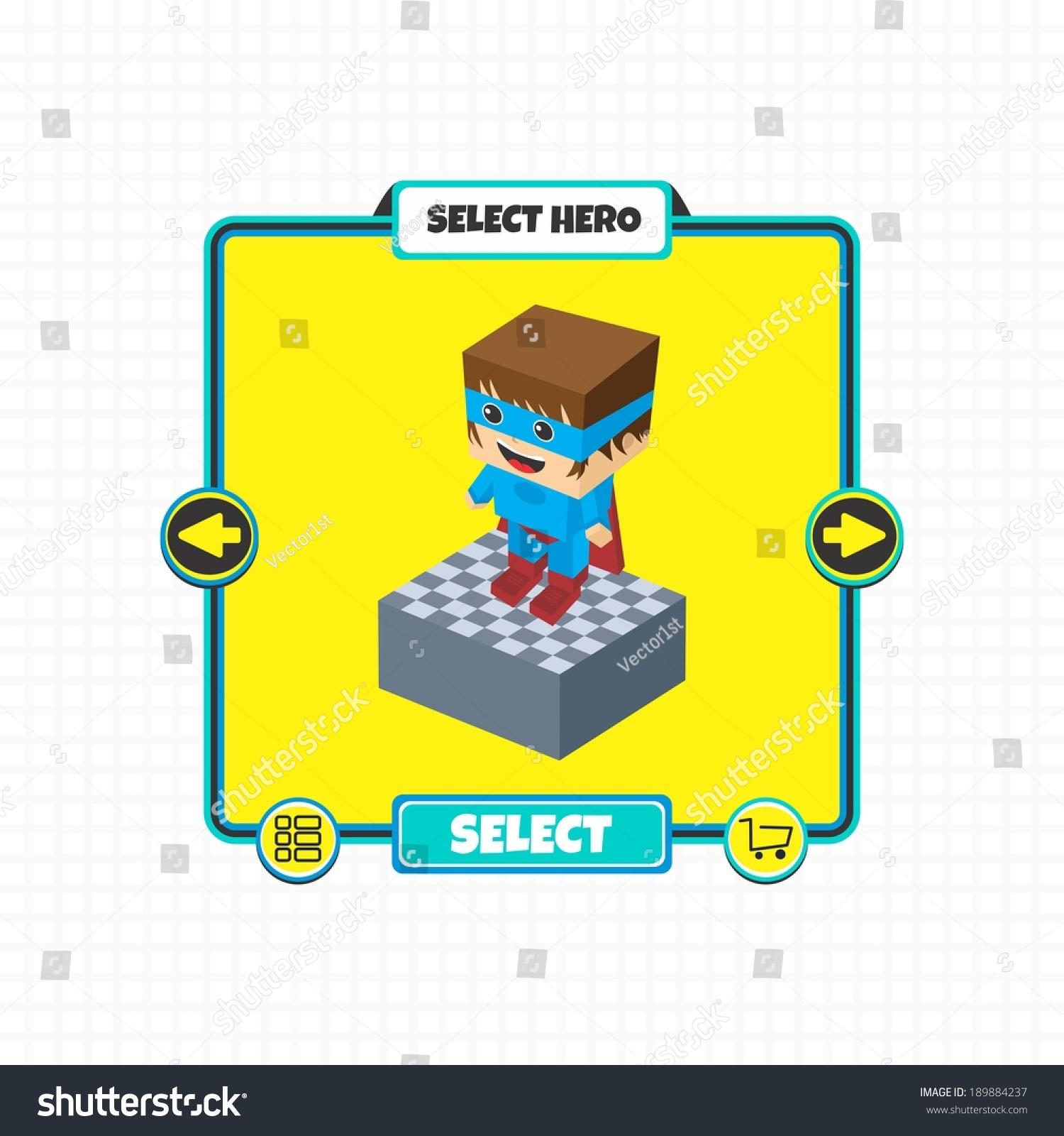 Game Asset Block Isometric Cartoon Character Stock Vector Royalty Diagram Games