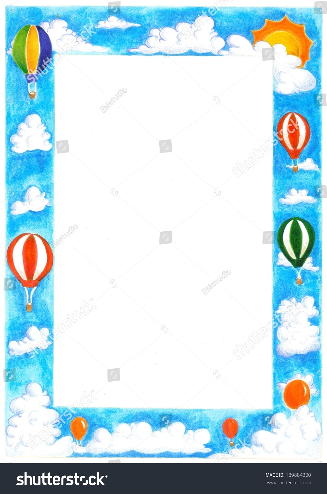 Hot Air Balloon Frame Stock Illustration 189884300 Shutterstock