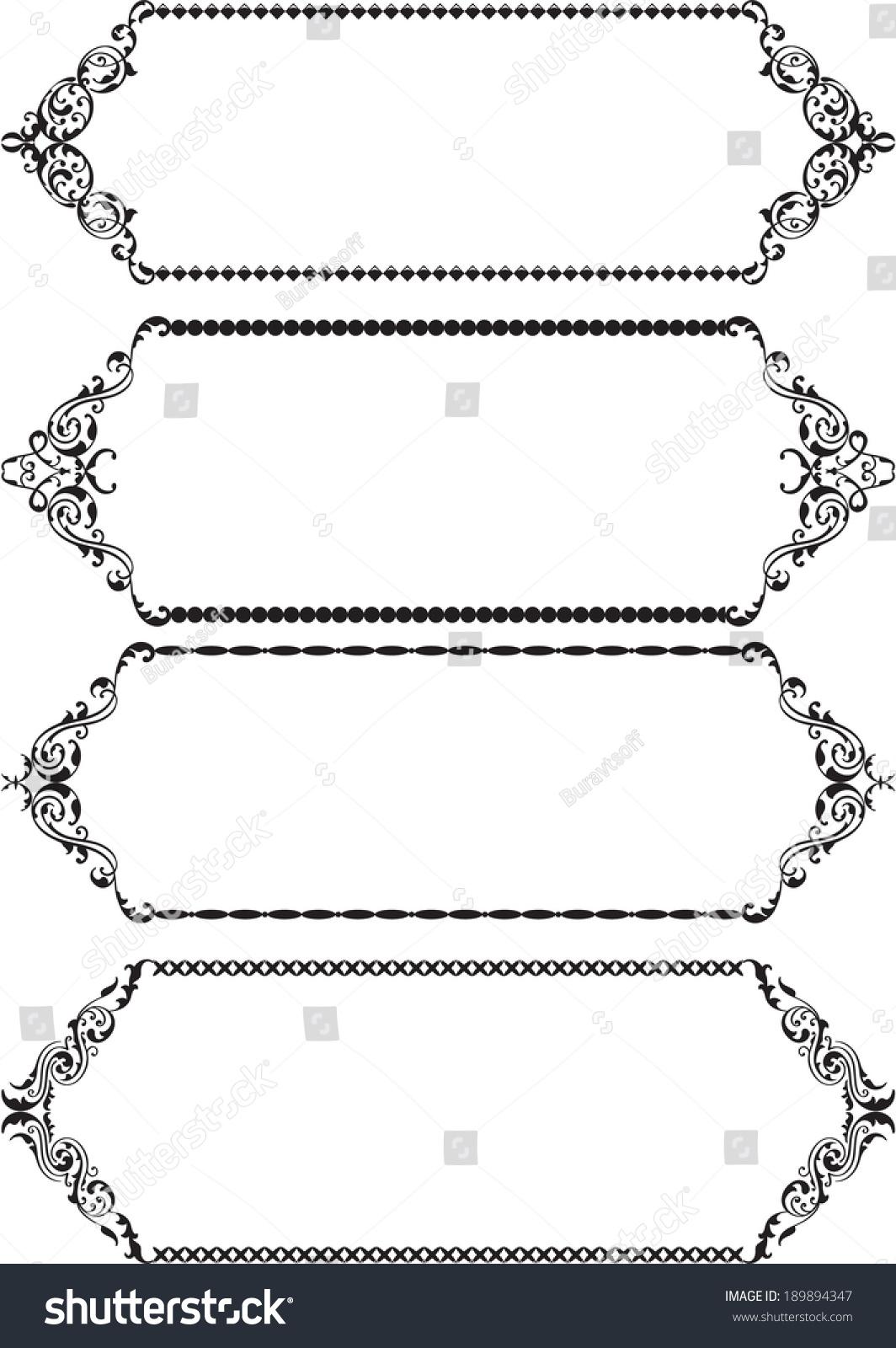 Classic Frames On White Stock Illustration 189894347 - Shutterstock