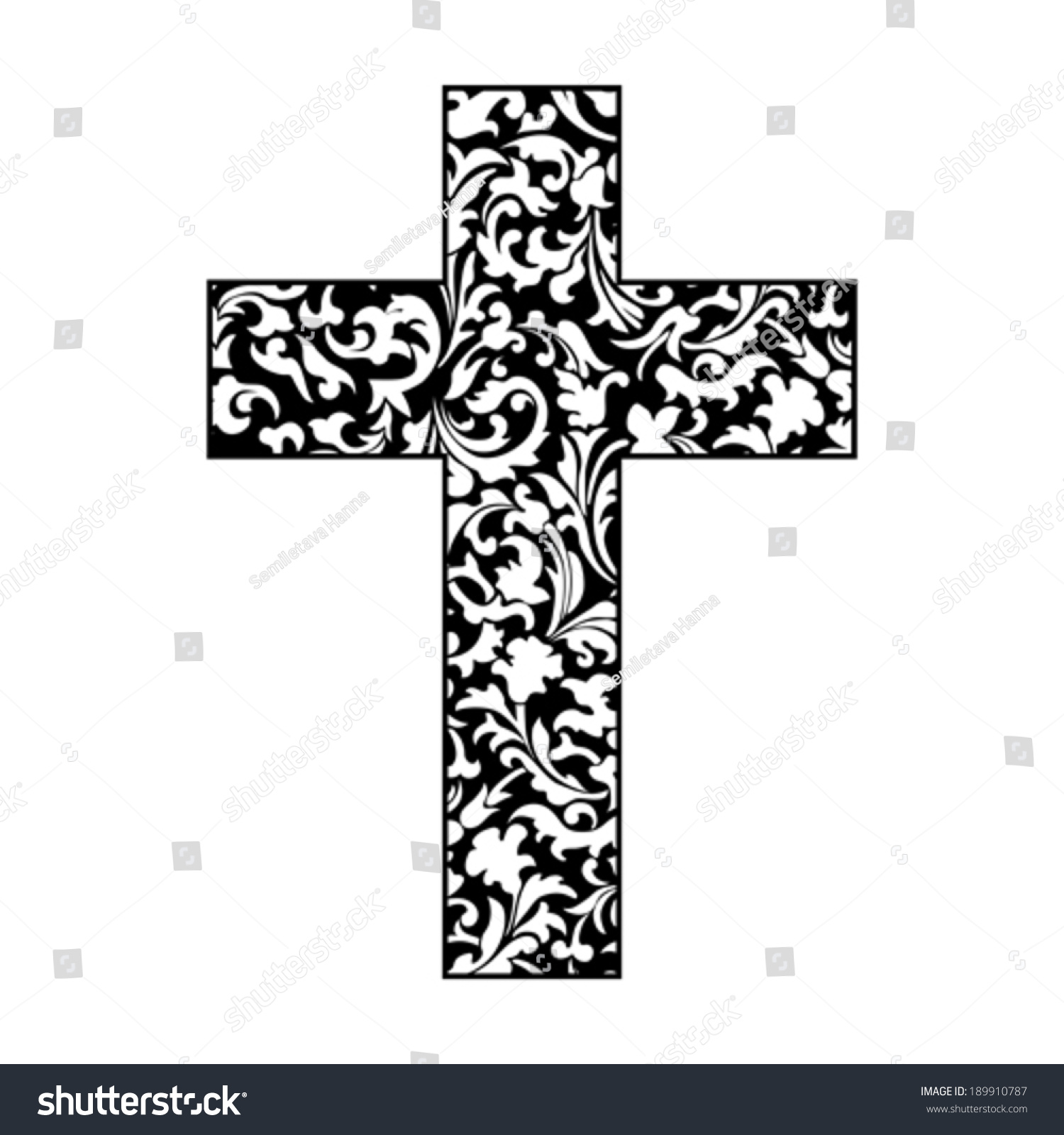 Cross Isolated On White Background Christian Stock Vector Royalty