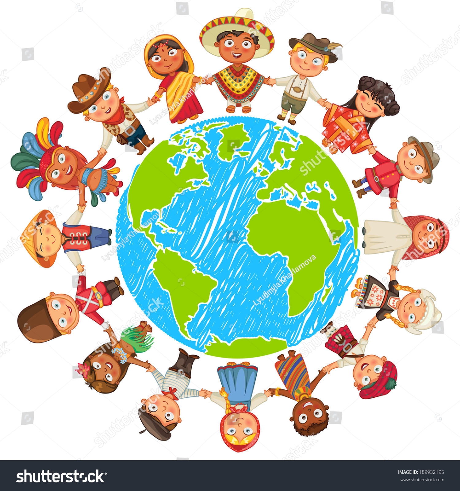 nationalities different culture standing together holding の