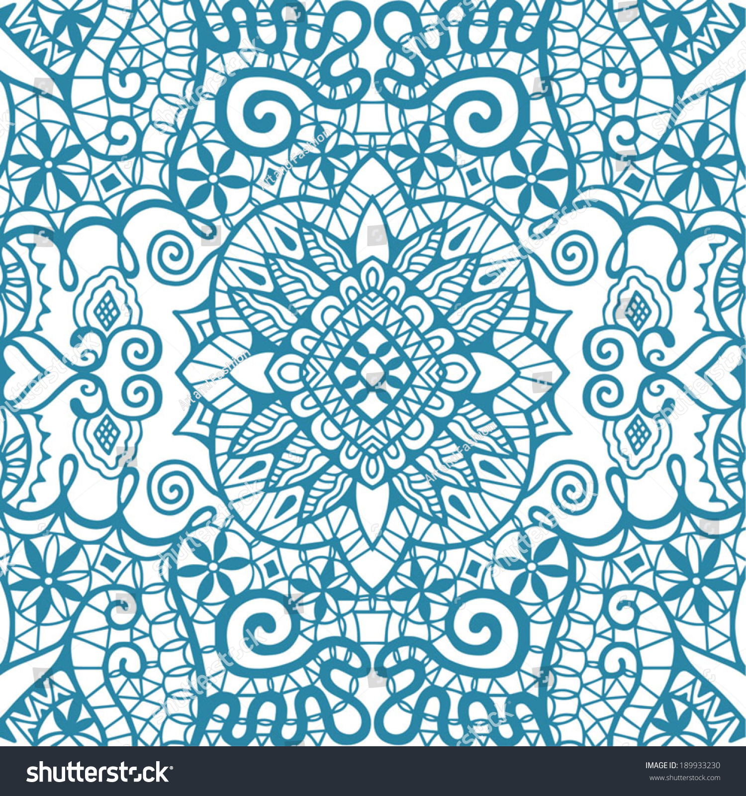 Blue Tribal Wallpapers: Abstract Tribal Ethnic Seamless Background Ornamental