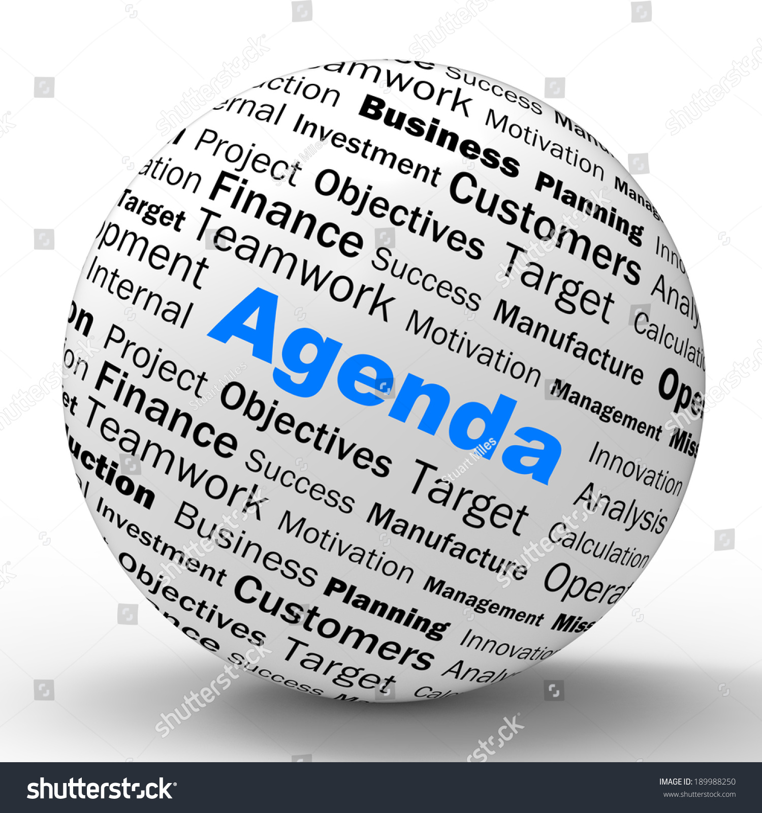 Agenda Sphere Definition Meaning Schedule Planner
