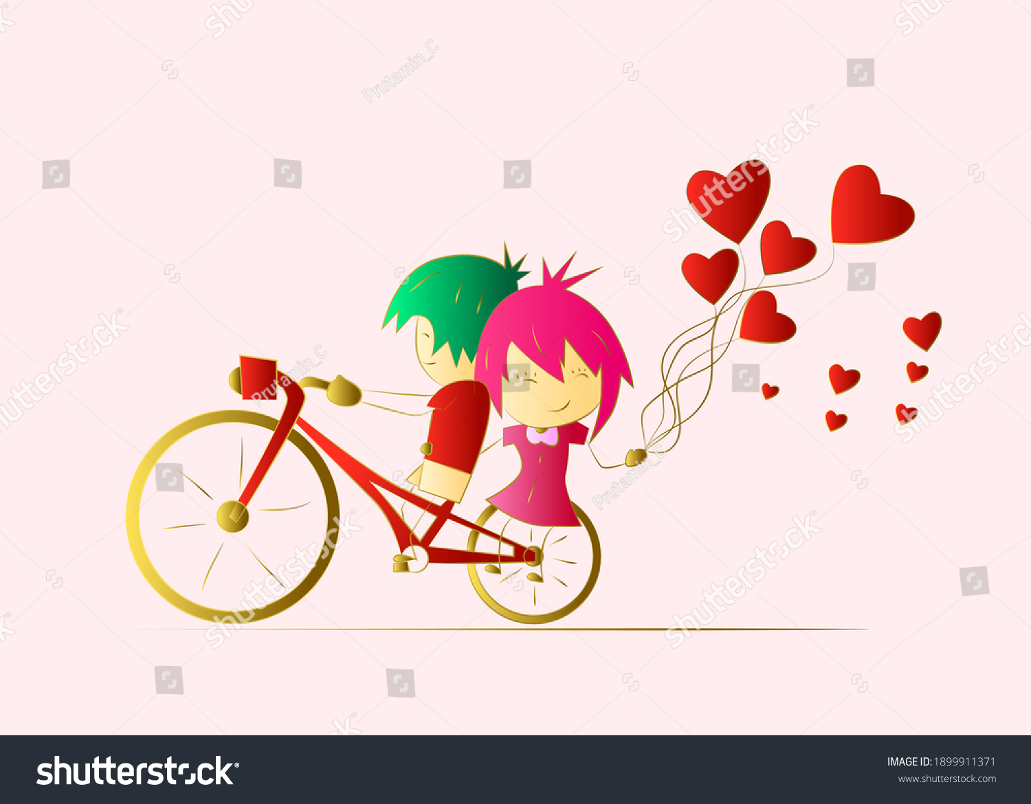 valentine background with 3D vector illustration