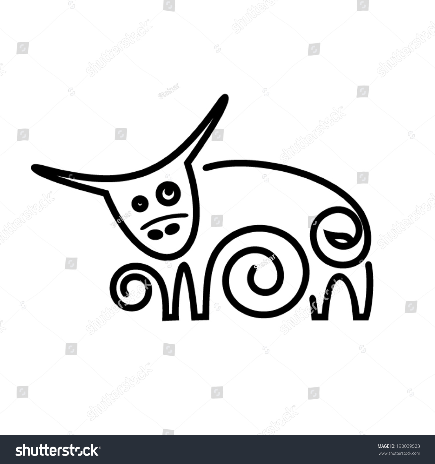 Cow branding identity corporate vector logo stock vector 190039523 cow branding identity corporate vector logo design template isolated on a white background buycottarizona