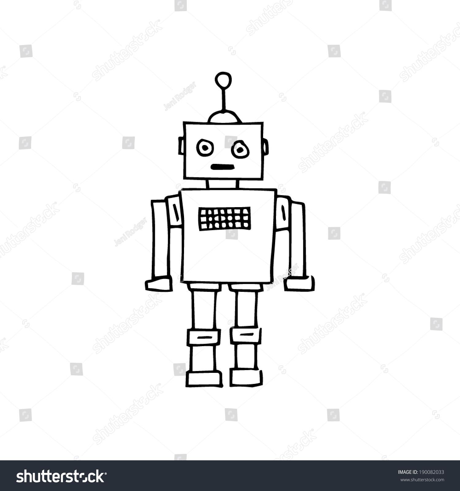 Retro Robot Sketch