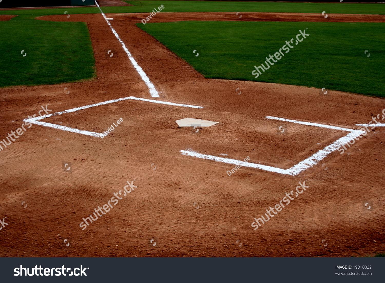 baseball field home plate stock photo 19010332 shutterstock