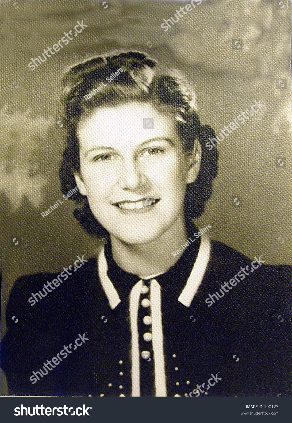 1930s era portrait pretty teenage girl stock photo edit now 190123