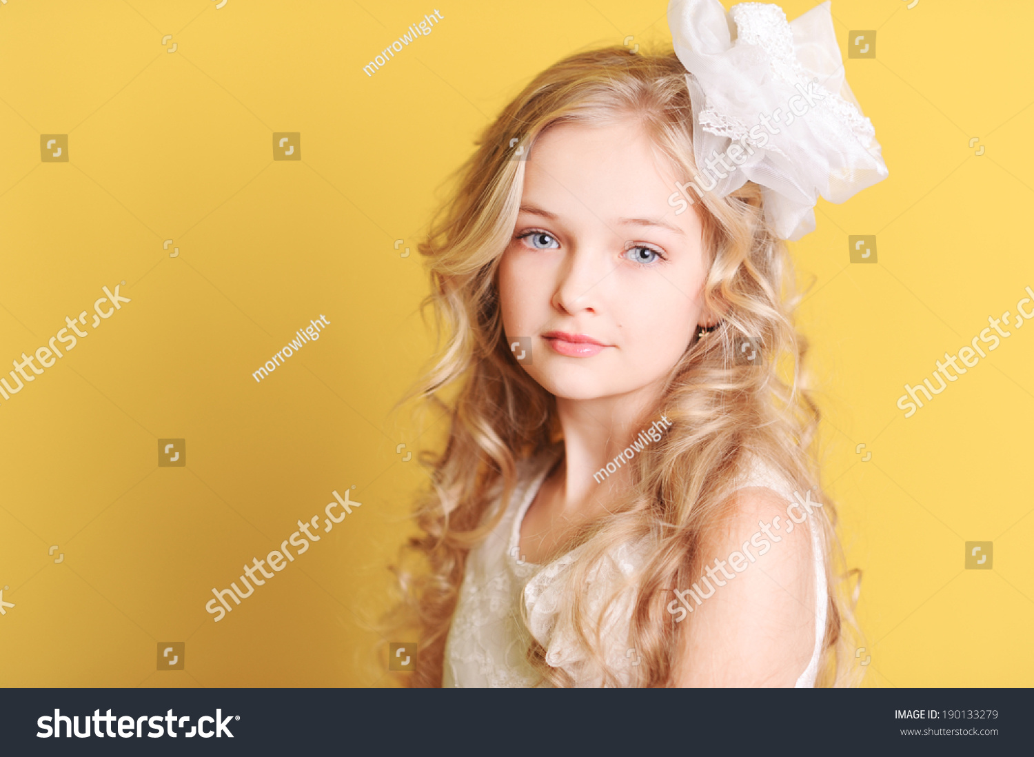 cute kid girl 1012 year old stock photo (royalty free) 190133279