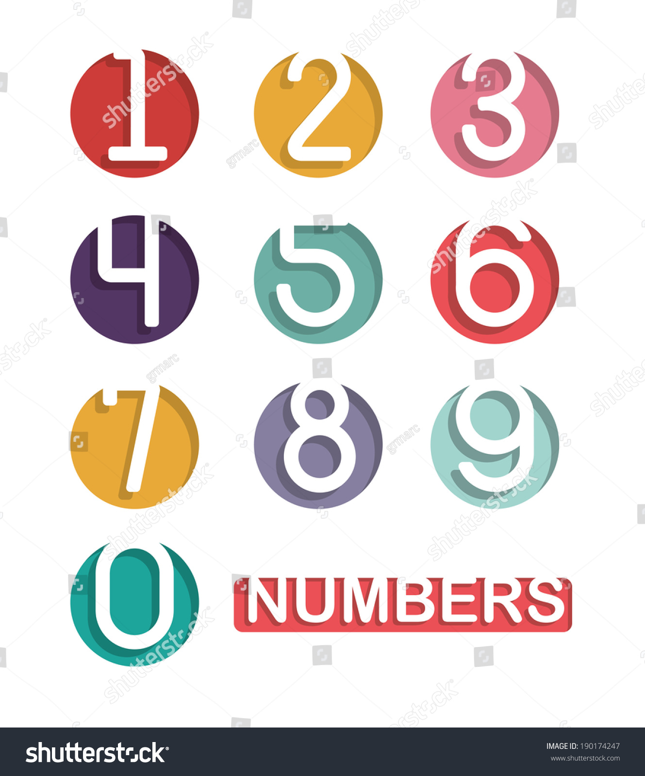 Numbers design over white background vector stock vector for Blueprint number