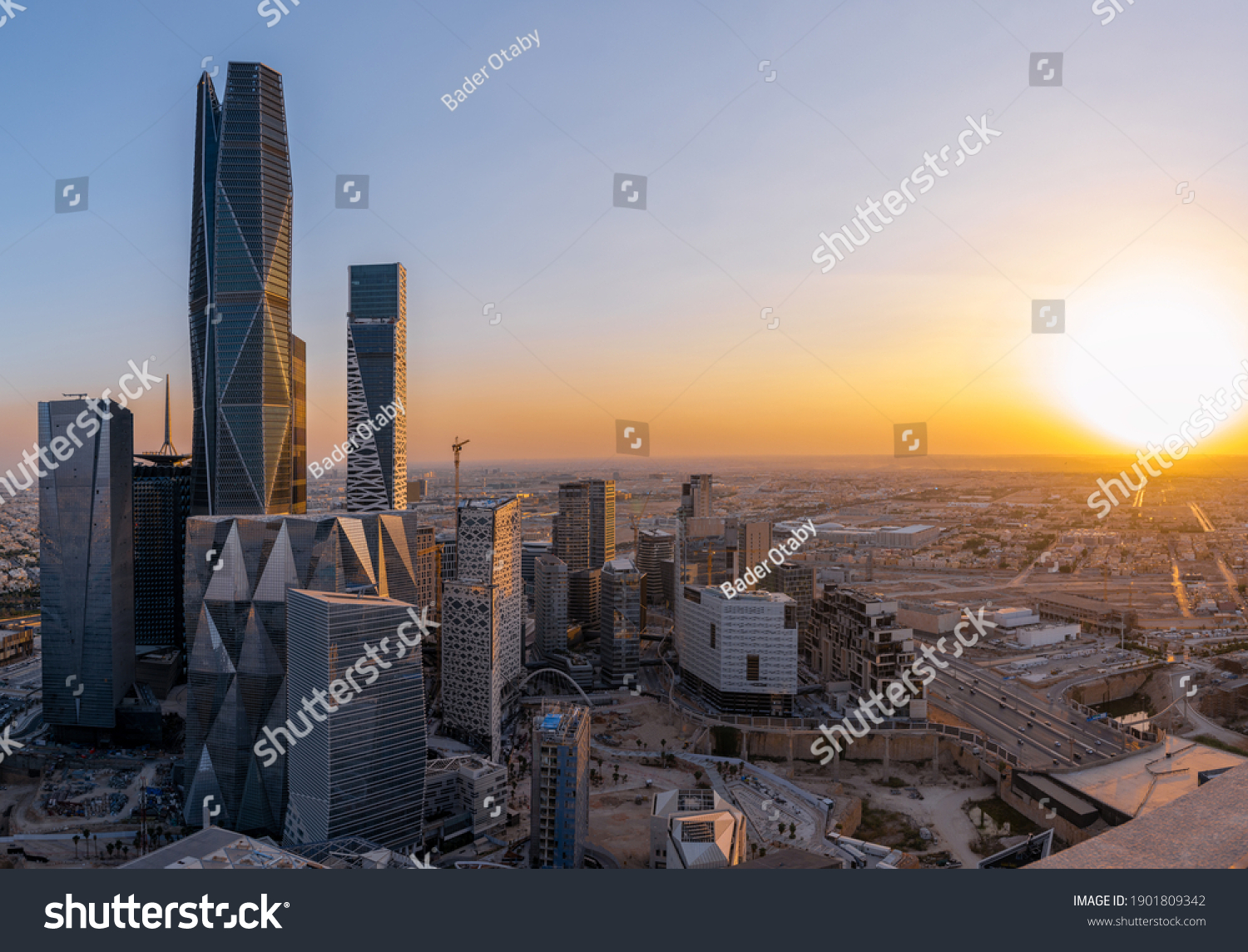 Riyadh Saudi Capital with it's Financial District that has the PIF Tower HQ #1901809342
