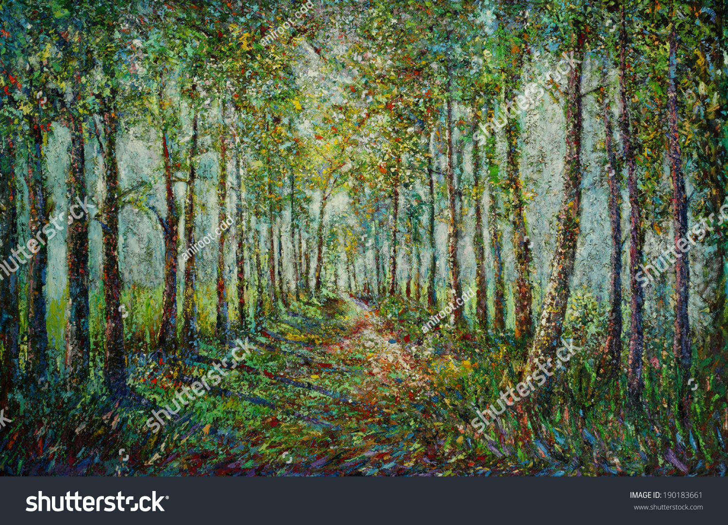 Oil Color Painting On Canvas Picture Stock Photo (Royalty Free ...