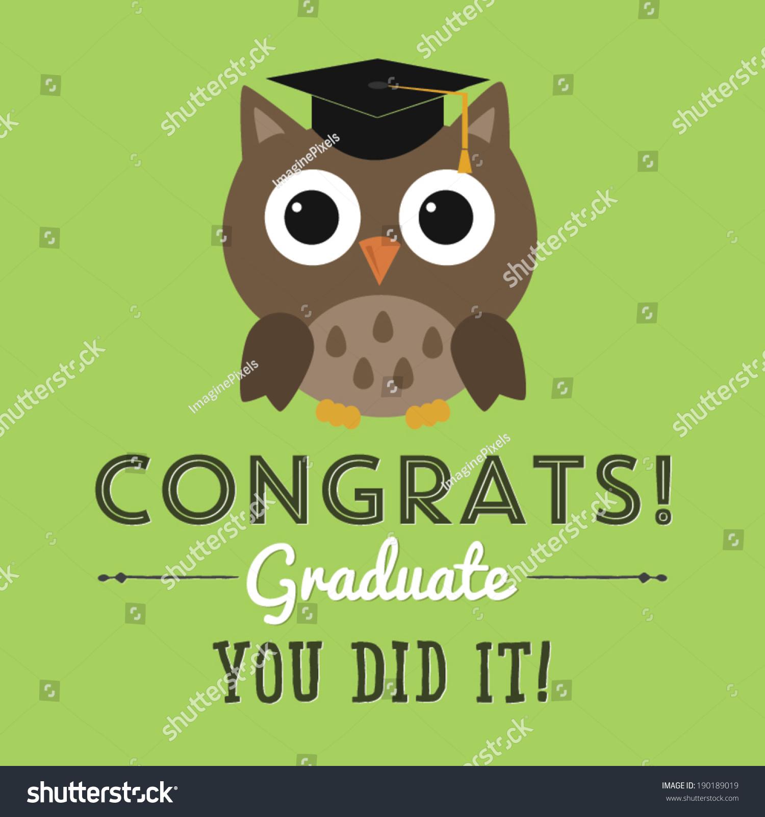 congrats graduate you did it graduation stock vector hd royalty
